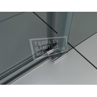 Wiesbaden Halle Schuideur (140x200 cm) Aluminium 8 mm Dik Helder Glas