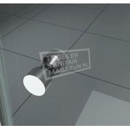 Wiesbaden Teur Dubbele Pendeldeur (100x200 cm) Chroom 6 mm Dik Helder Glas