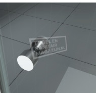 Wiesbaden Teur Dubbele Pendeldeur (90x200 cm) Chroom 6 mm Dik Helder Glas