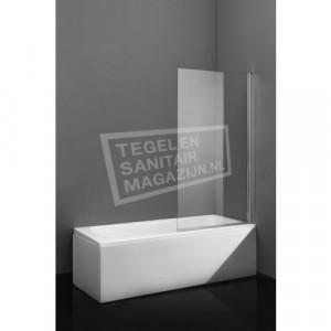 Beuhmer Square Half frame Met Greep Chroom (140x80 cm) 8 mm Dik Helder Glas