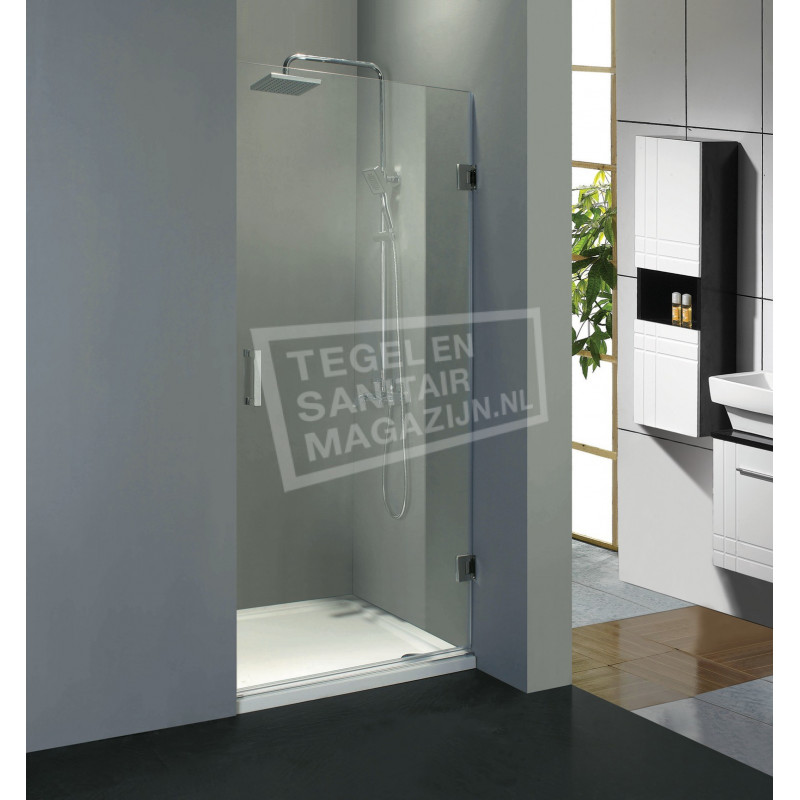 Beuhmer Classy Draaideur Profielloos (80x200 cm) Chroom 8 mm Dik Helder Glas