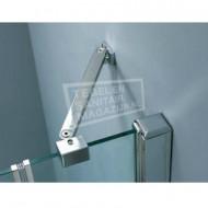 Beuhmer Wide Draaideur (90x200 cm) Chroom 8 mm NANO Anti-kalk