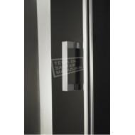 Beuhmer Mauer Draaideur (90x200 cm) Chroom 6 mm Dik Helder Glas