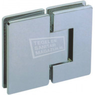 Sanilux Standard Draaideur zonder profiel (70x200 cm) Chroom 8 mm Dik Helder Glas