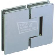 Sanilux Standard Draaideur zonder profiel (90x200 cm) Chroom 8 mm Dik Helder Glas