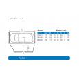 Beterbad Aruba (190x80x45cm) Duobad 350L Acryl Wit
