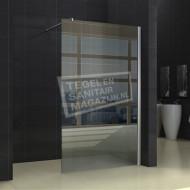 Wiesbaden Anlauf 100x200 cm inloopdouche met Muurprofiel 10 mm