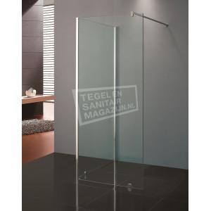 Beuhmer Penin 100x80x200 cm inloopdouche met Muurprofiel/Hoekprofiel 10 mm