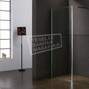 Sanilux Faire 100x45x200 cm inloopdouche met Muurprofiel 8 mm