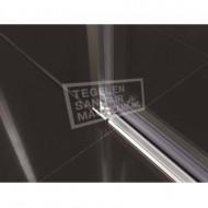 Beuhmer Softclose Schuifdeur (160x200 cm) Chroom 8 mm Dik Helder Glas