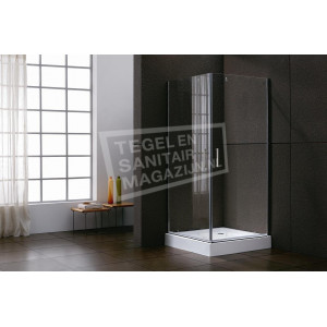 Sanilux Twice (90x90x200 cm) douchecabine vierkant 2 swingdeuren 6 mm