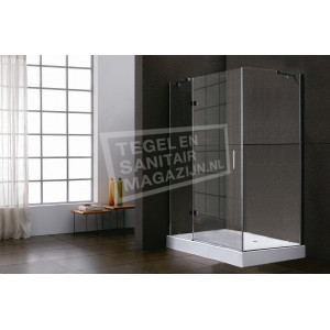 Sanilux Standard (100x80x200 cm) douchecabine rechthoek 1 draaideur 8 mm