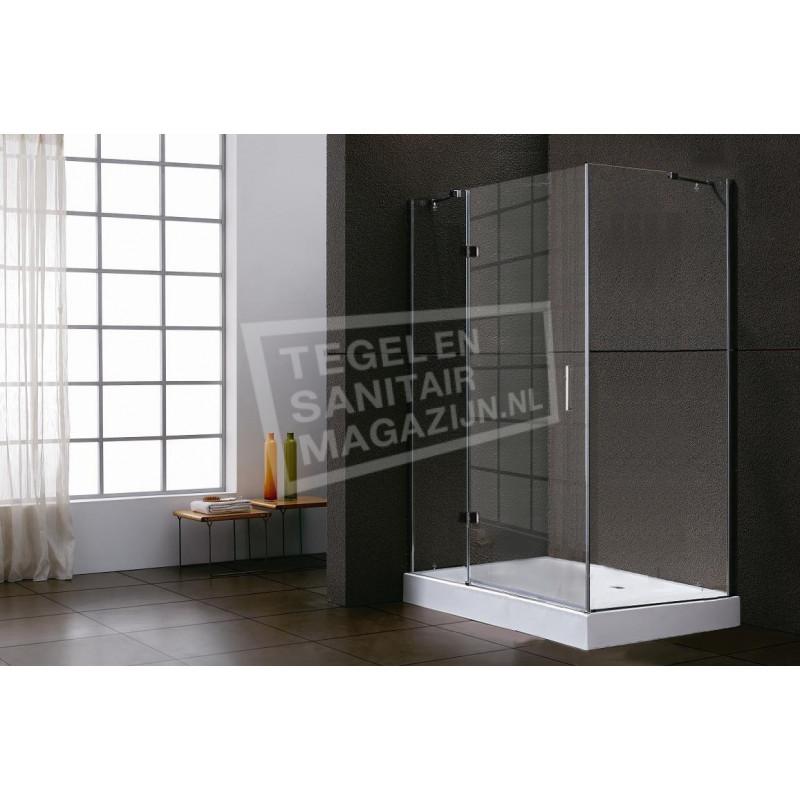 Sanilux Standard (140x90x200 cm) douchecabine rechthoek 1 draaideur 8 mm